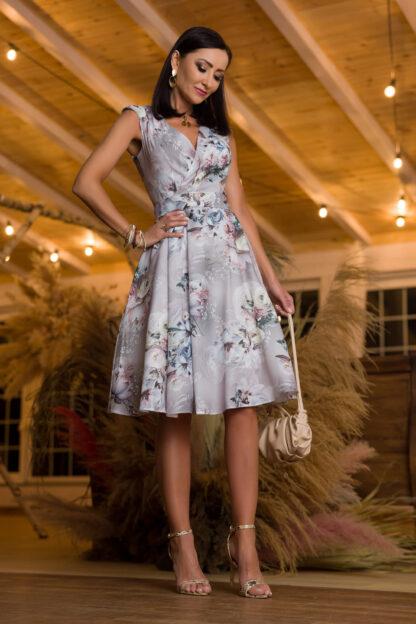 Sukienka midi - szara
